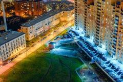 νύχτα Πετρούπολη ST Στοκ φωτογραφίες με δικαίωμα ελεύθερης χρήσης