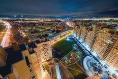 νύχτα Πετρούπολη ST Στοκ εικόνα με δικαίωμα ελεύθερης χρήσης