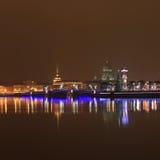 νύχτα Πετρούπολη ST Στοκ Φωτογραφία