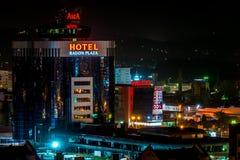Νύχτα που πυροβολείται του ραδονίου Plaza ξενοδοχείων Στοκ Εικόνες