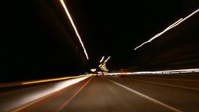 Νύχτα που POV το χρονικό σφάλμα 4K / UHD απόθεμα βίντεο