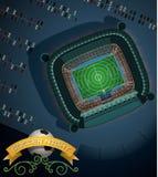Νύχτα ποδοσφαίρου - απεικόνιση Στοκ Εικόνες