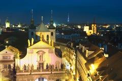 νύχτα Πράγα εικονικής παράσ Στοκ εικόνα με δικαίωμα ελεύθερης χρήσης