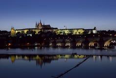 νύχτα Πράγα Στοκ φωτογραφία με δικαίωμα ελεύθερης χρήσης