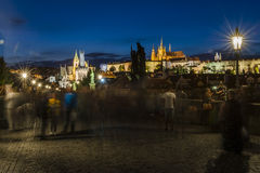 νύχτα Πράγα Στοκ φωτογραφίες με δικαίωμα ελεύθερης χρήσης