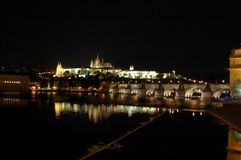 νύχτα Πράγα Στοκ Φωτογραφία