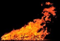 νύχτα πυρκαγιάς Στοκ Εικόνα