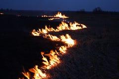 νύχτα πυρκαγιάς Στοκ φωτογραφίες με δικαίωμα ελεύθερης χρήσης