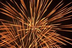 νύχτα πυροτεχνημάτων πέρα από Στοκ εικόνες με δικαίωμα ελεύθερης χρήσης