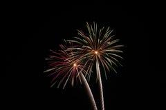 νύχτα πυροτεχνημάτων Στοκ φωτογραφία με δικαίωμα ελεύθερης χρήσης