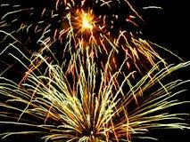 νύχτα πυροτεχνημάτων Στοκ Φωτογραφία