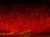 νύχτα πόλεων ανασκόπησης Στοκ Εικόνα