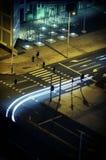 νύχτα πόλεων αυτοκινήτων π&omi Στοκ Φωτογραφίες