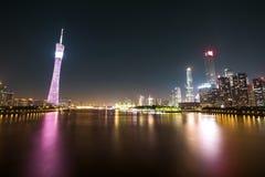 Νύχτα πόλεων του guangzhou Στοκ φωτογραφίες με δικαίωμα ελεύθερης χρήσης