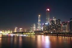 Νύχτα πόλεων του guangzhou Στοκ Εικόνα
