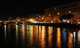 νύχτα πόλεων Στοκ φωτογραφίες με δικαίωμα ελεύθερης χρήσης