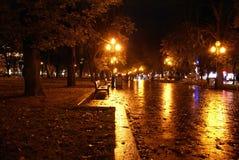νύχτα πόλεων Στοκ Εικόνες