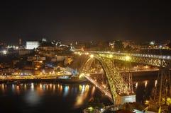 Νύχτα Πόρτο Στοκ Εικόνες