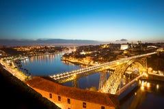 νύχτα Πόρτο Στοκ φωτογραφία με δικαίωμα ελεύθερης χρήσης