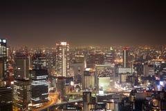 Νύχτα πόλεων της Ιαπωνίας Kansai Οζάκα Στοκ Φωτογραφία