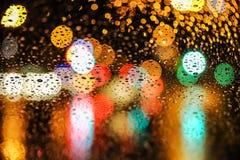 Νύχτα πόλεων bokeh Στοκ φωτογραφίες με δικαίωμα ελεύθερης χρήσης