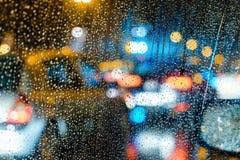 Νύχτα πόλεων bokeh Στοκ Φωτογραφίες