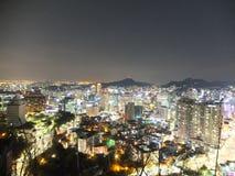 Νύχτα Σεούλ στοκ εικόνες με δικαίωμα ελεύθερης χρήσης
