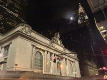 Νύχτα σεληνόφωτου στην πόλη της Νέας Υόρκης Στοκ εικόνα με δικαίωμα ελεύθερης χρήσης