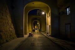 Νύχτα σε Valletta Μάλτα Στοκ φωτογραφία με δικαίωμα ελεύθερης χρήσης