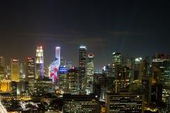 νύχτα Σινγκαπούρη εικονικής παράστασης πόλης Στοκ εικόνες με δικαίωμα ελεύθερης χρήσης