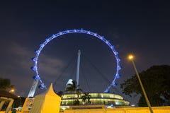 νύχτα Σινγκαπούρη ιπτάμενων Στοκ Εικόνες