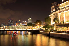 νύχτα Σινγκαπούρη πόλεων Στοκ εικόνες με δικαίωμα ελεύθερης χρήσης