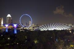 Νύχτα Σινγκαπούρη Στοκ Φωτογραφίες