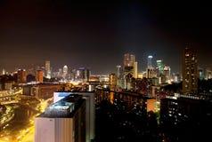 νύχτα Σινγκαπούρη Στοκ εικόνα με δικαίωμα ελεύθερης χρήσης