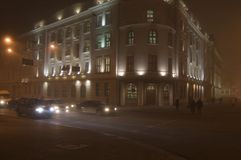 νύχτα σταυροδρομιών Στοκ φωτογραφία με δικαίωμα ελεύθερης χρήσης