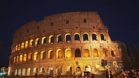 Νύχτα στενή του colosseum, Ρώμη φιλμ μικρού μήκους