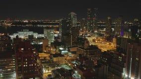 Νύχτα στην ακολουθία χρόνος-σφάλματος ημέρας της περιφέρειας του κέντρου Μανχάταν απόθεμα βίντεο