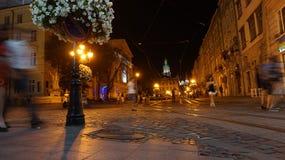 Νύχτα στην παλαιά πόλη Στοκ Εικόνα