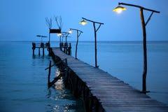 Νύχτα στην τροπική θάλασσα Στοκ Εικόνα