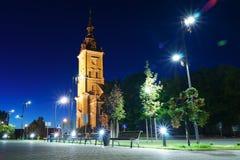 Νύχτα στη λιθουανική πόλη Στοκ φωτογραφία με δικαίωμα ελεύθερης χρήσης