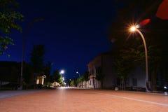 Νύχτα στη λιθουανική πόλη Στοκ Φωτογραφία