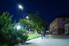 Νύχτα στη λιθουανική πόλη Στοκ εικόνα με δικαίωμα ελεύθερης χρήσης