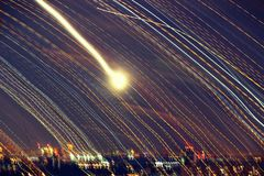 Νύχτα στη Μόσχα, Ρωσία Στοκ εικόνα με δικαίωμα ελεύθερης χρήσης