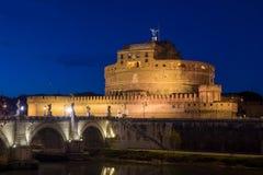 Νύχτα στη Ρώμη σε Sant Angelo Castle Στοκ Εικόνα