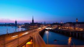 νύχτα Στοκχόλμη πόλεων φιλμ μικρού μήκους