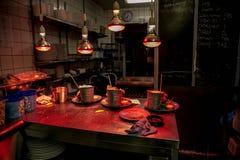 Νύχτα στον καφέ Στοκ Φωτογραφίες