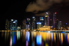 Νύχτα στον κόλπο μαρινών της Σιγκαπούρης ` s Στοκ εικόνα με δικαίωμα ελεύθερης χρήσης