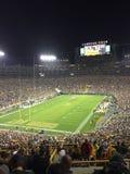 Νύχτα στον τομέα Green Bay Packers Lambeau Στοκ φωτογραφία με δικαίωμα ελεύθερης χρήσης