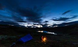 Νύχτα στο ίχνος βασιλιάδων Στοκ Εικόνες