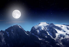 Νύχτα στο βουνό Στοκ Φωτογραφία